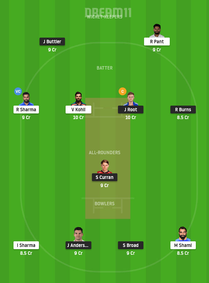 ENG vs IND Dream11 Team Prediction For Today Match